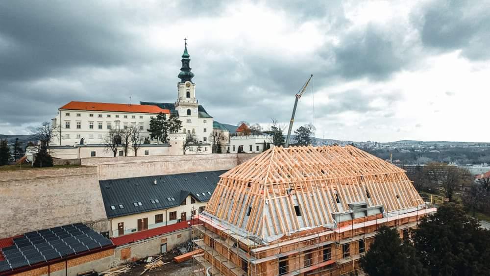 Veľprepoštský palác pod Nitrianskym hradom - pohľad na rekonštrukciu