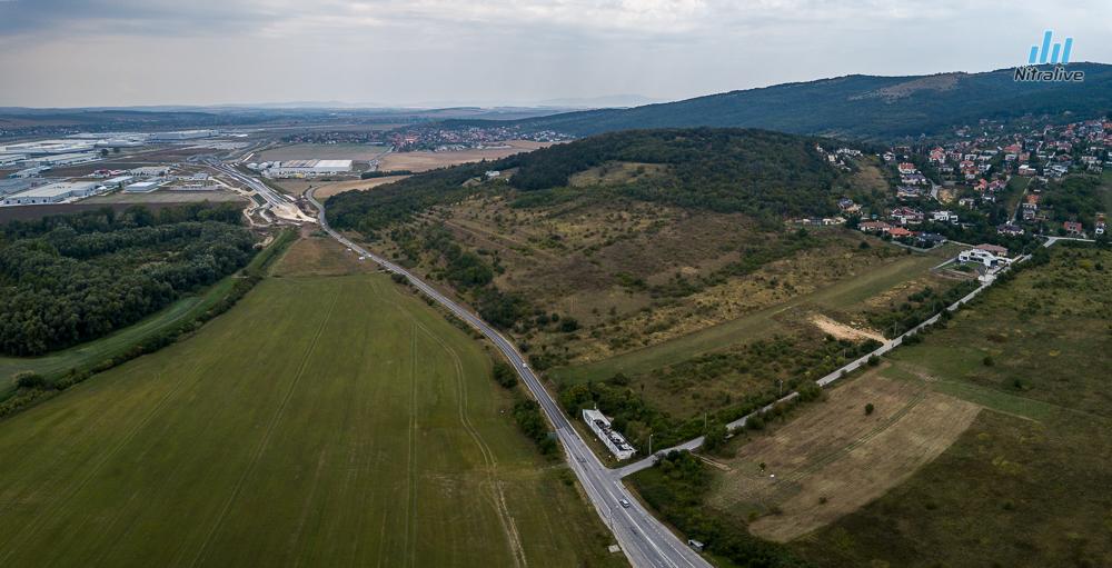 Pohľad na I/64 x Prvosienkova ulica a miesto napojenia na obchvat Dražoviec
